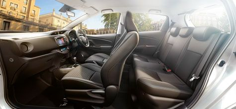 Toyota Yaris and Yaris Hybrid. Compact city car.