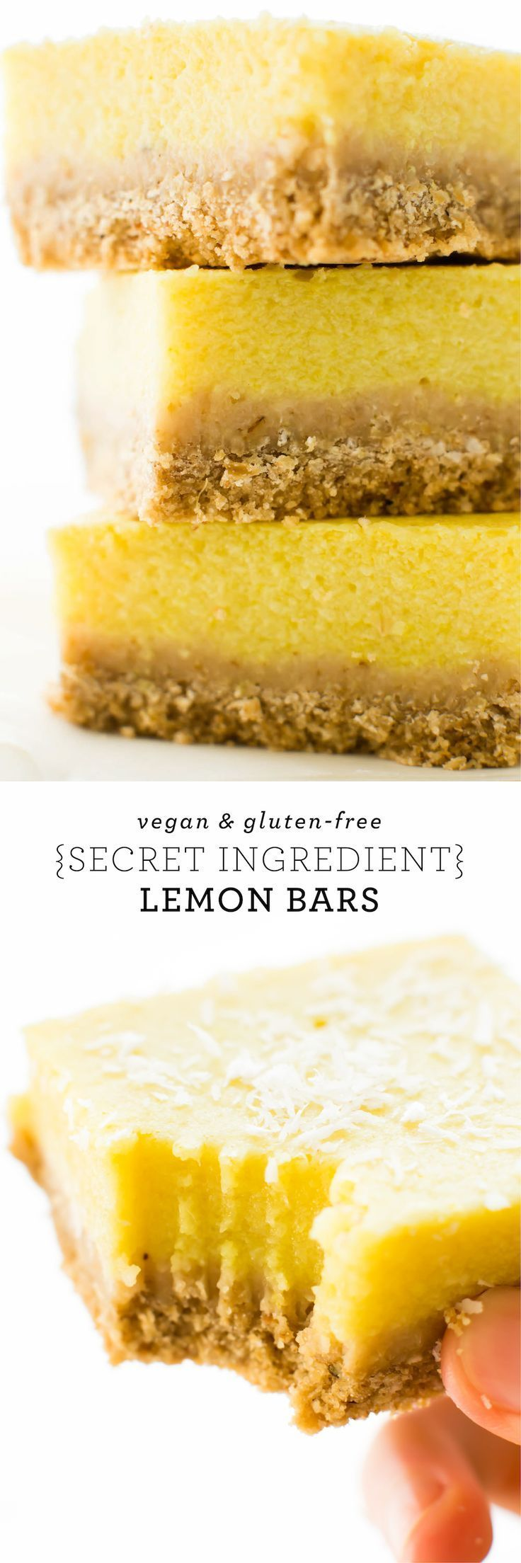 With a crispy oat cracker crust and a luscious veggie-laced lemon filling, these tasty Vegan Lemon Bars are like no citrus dessert you've had before!