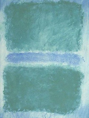 Green Divided by Blue, Oil by Mark Rothko