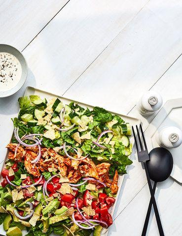 Rotisserie BBQ Hühnersalat   – recipes-leftover chicken