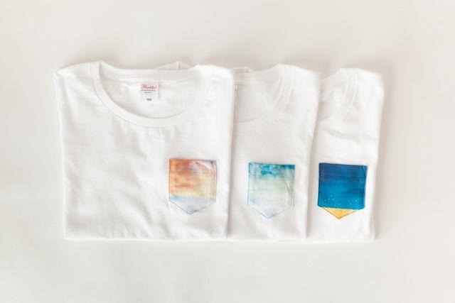 [受注製作] ポケットTシャツ「青い空」   ハンドメイドマーケット minne