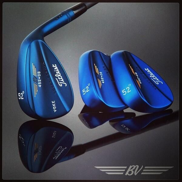December 12, 2013: ''Could this be the most beautiful wedge we've ever offered?,'' asked Vokey Wedges, adding the hashtags #452Indigo #FeaturedWedge.