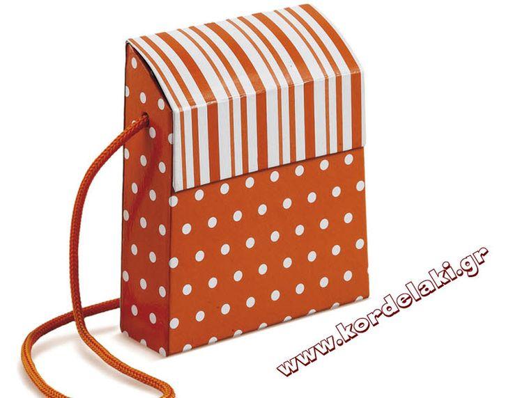 Κουτί τσαντάκι πορτοκαλί με κορδόνι για μπομπονιέρα γάμου και βάπτισης, στολισμούς, κατασκευές, διακοσμήσεις ή οτιδήποτε έχετε φανταστεί.