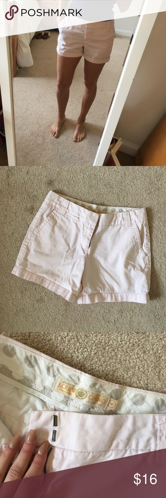 J.Crew shorts - WILL BUNDLE! J.Crew classic shorts, light pink color. Cuffed up once in picture where I am wearing them. Again, size 6 but J.Crew runs slim. Would definitely consider bundling with my other J.Crew OR J.Crew-style shorts! J. Crew Shorts