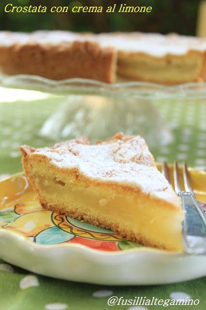 Crostata Coperta con Crema al Limone