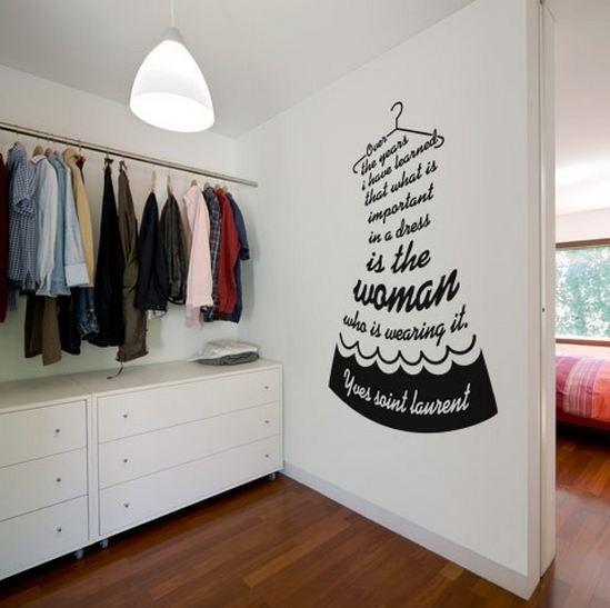Sticker :-) walk in closet