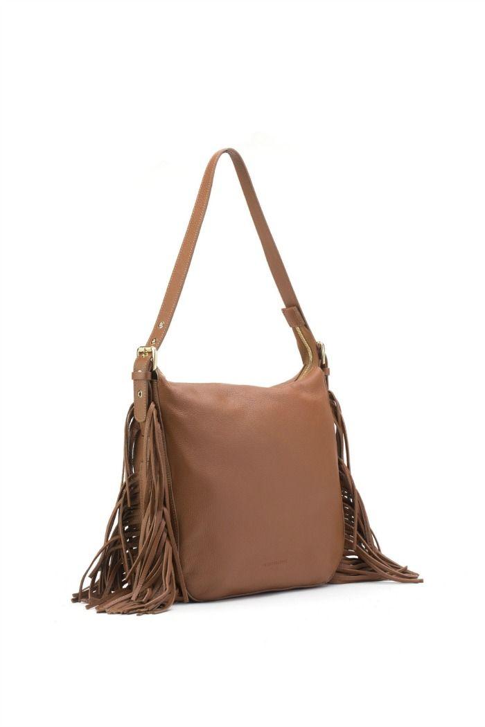 L'Autre Chose fringed bag.  #lautrechose #bag #fringes #fashion #70s #trend #spring #ss15