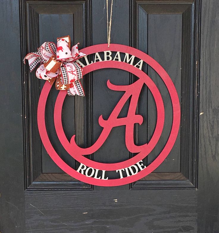 Excited to share the latest addition to my #etsy shop: University of alabama. Roll tide Football Door Hanger. Alabama Door Hanger. Wooden Door Hanger. Monogram Door Hanger. Initial Door Hanger.