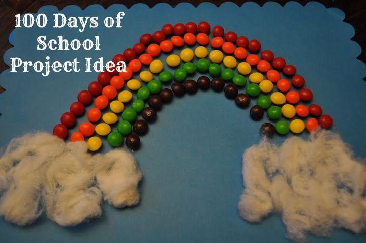 100 Days of School Project ideas: Rainbow of Skittles! #100daysofschool