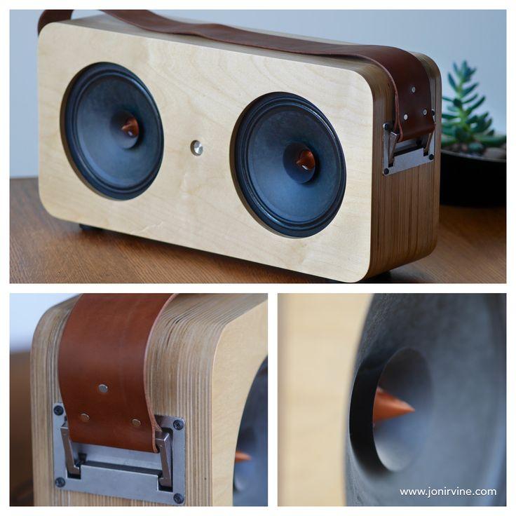 DIY Boombox designed by Jon Irvine. #diyaudio #boombox #handandhide #vesselaudio