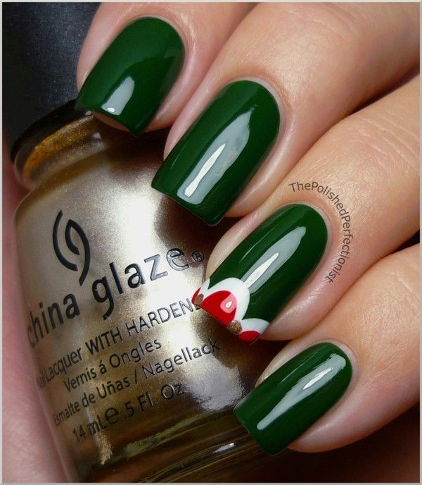 Christmas nails....the only idea that I like with both red and green together