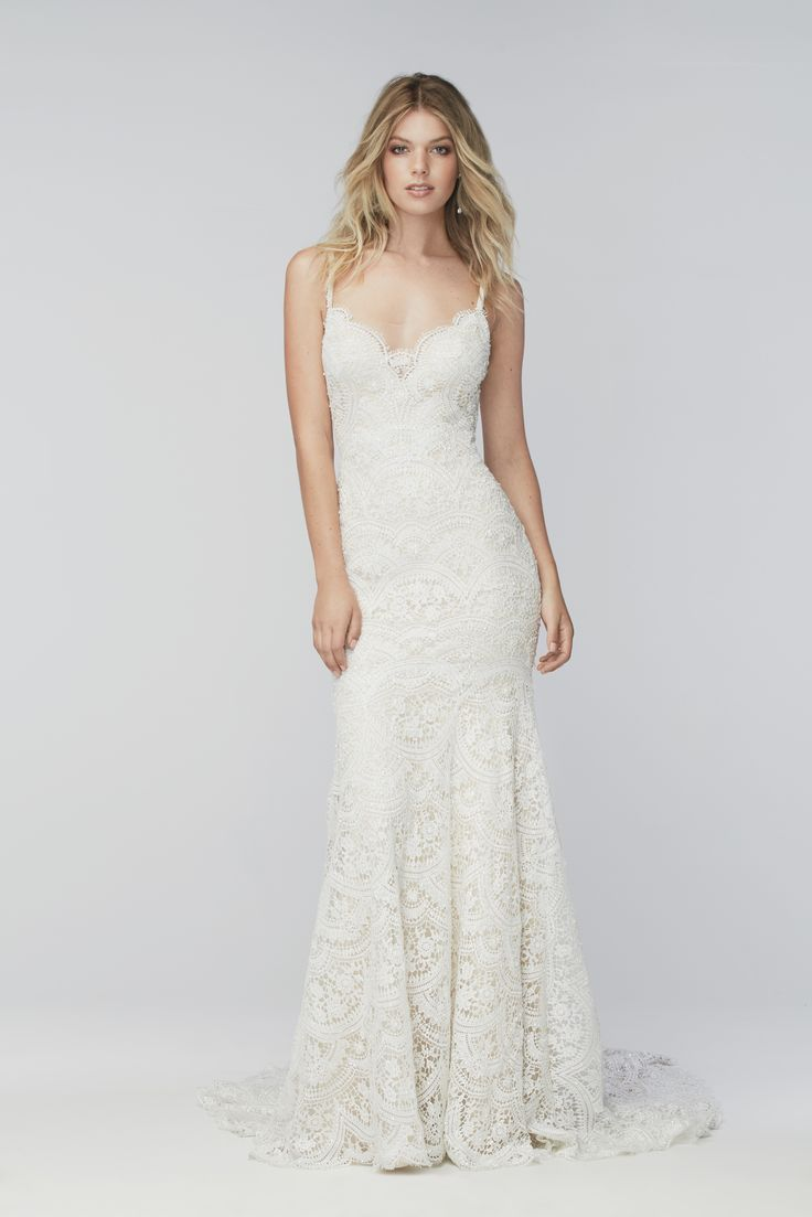 Lisa robertson in wedding dress - Watters Wtoo Elise 16153 Lace Wedding Dress In Ivory