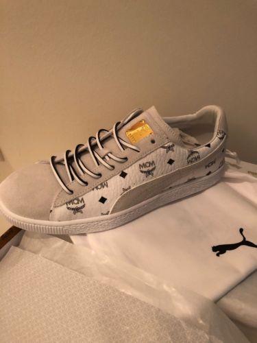 4e0af6bfa741ef Men s Puma Suede Classic x MCM Size 9 White Puma Black White