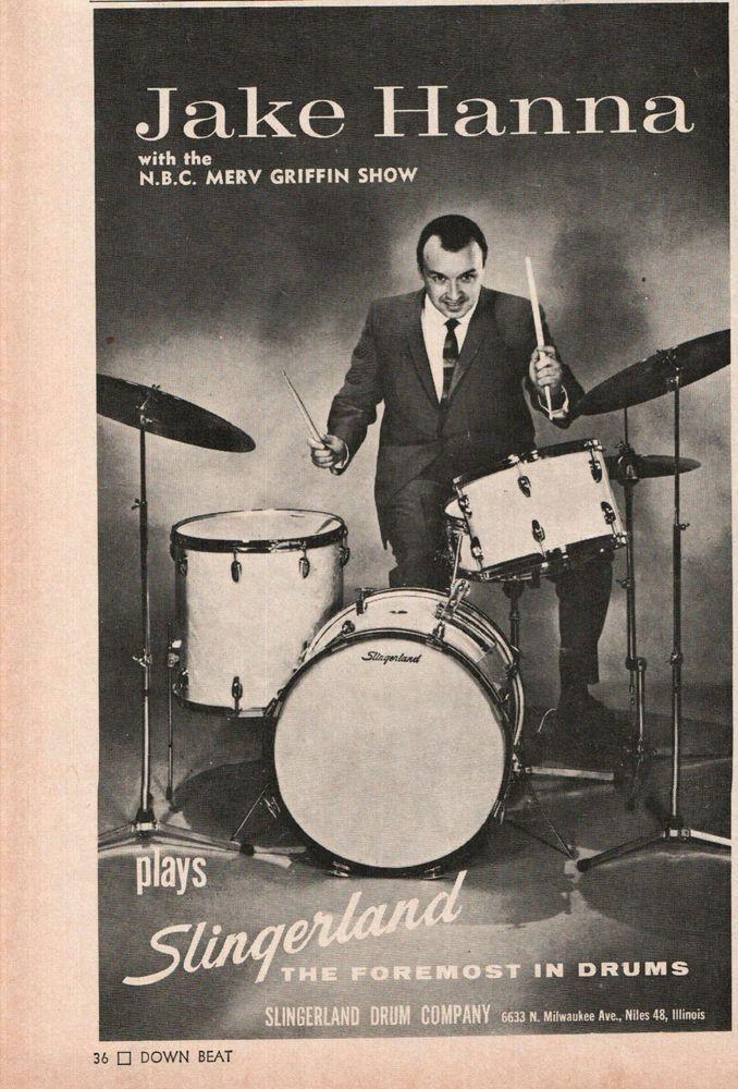 Details About 1966 Jake Hanna Photo Slingerland Drums Drum Set