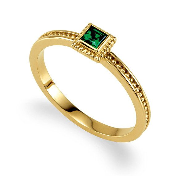 Mothers Stackable Ring Mounting . 14k Solid Gold by LaremelStudio, $275.00