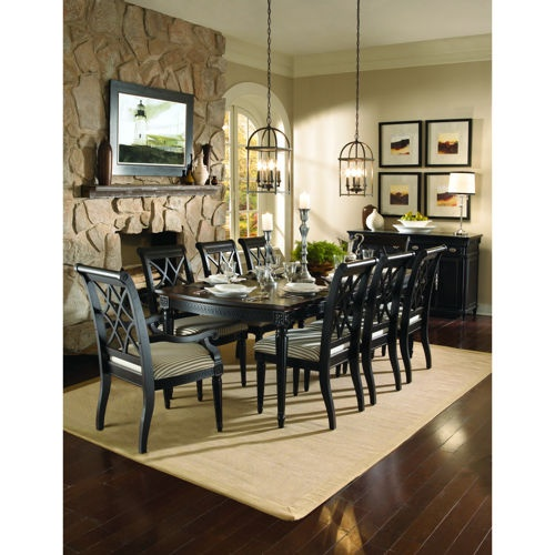 Liberty 10 Piece Dining Set Table 6 Side Chairs 2 Arm