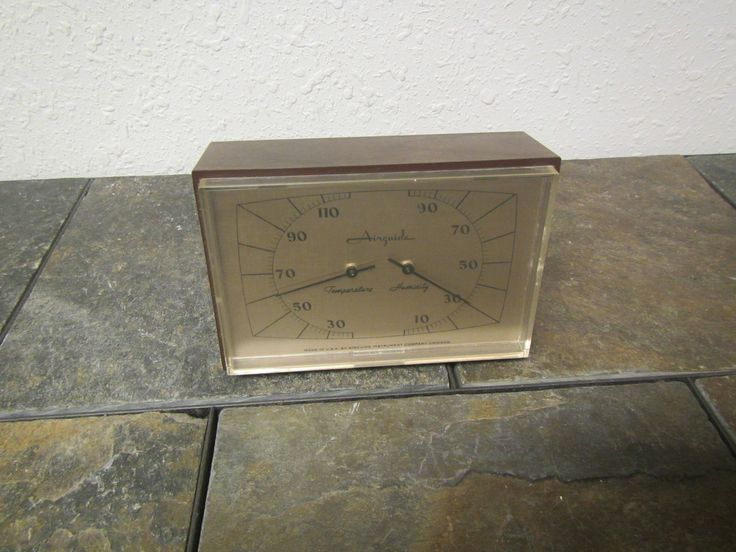 Airguide Desk top  Weather Station with Temperature  and Humidity Meter,  mid century by mauryscollectibles on Etsy