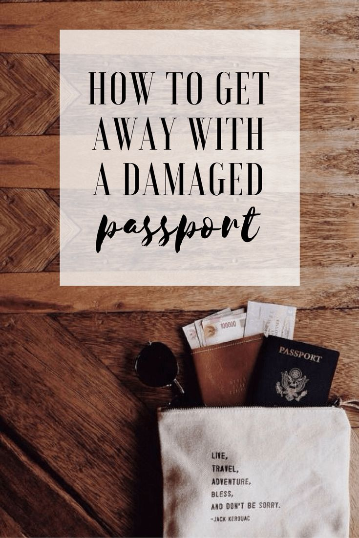 Scared you won't be allowed to travel with a damaged passport? Let me share some sneaky tips with you ✈️