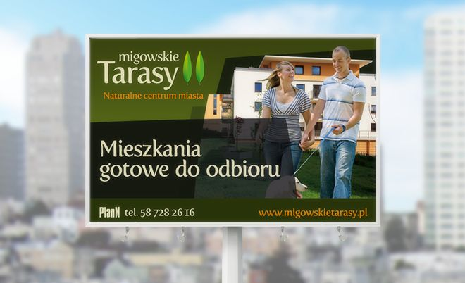 Migowskie Tarasy: Developer investment outdoor - Jamel Interactive interactive agency Gdansk, Tricity