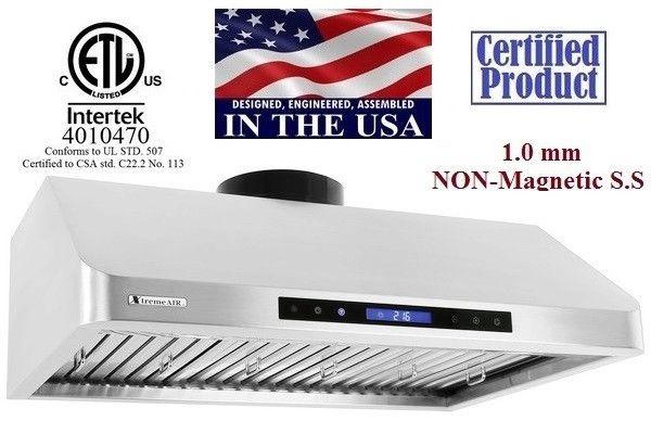 XtremeAir USA Stainless Steel Under Cabinet Range Hood PX10-U36