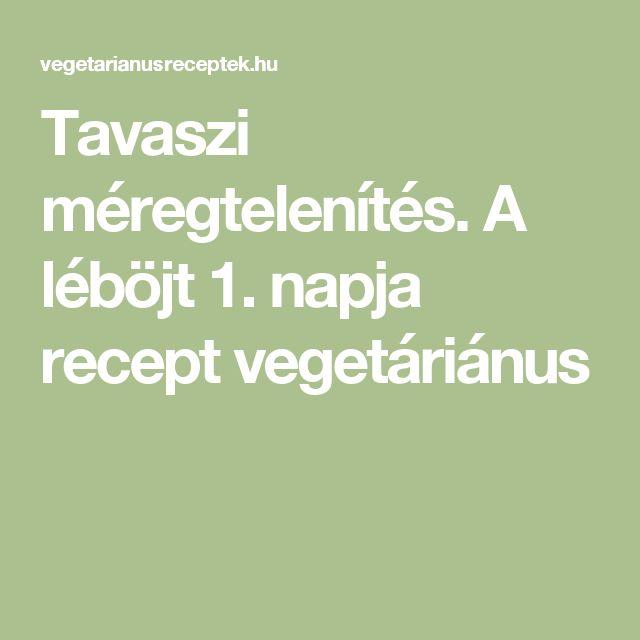 Tavaszi méregtelenítés. A léböjt 1. napja recept vegetáriánus