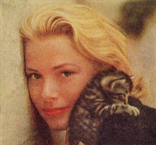 grace kelly with cat
