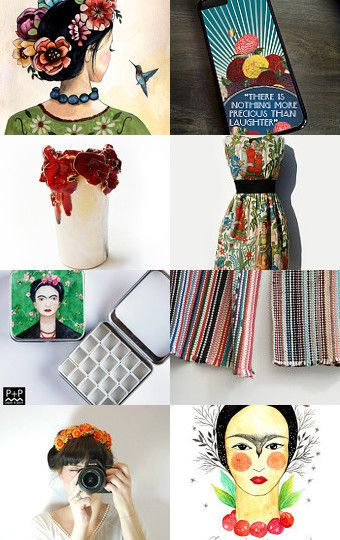 Frida Inspired .... by Nathalie Patenaude on Etsy--Pinned with TreasuryPin.com