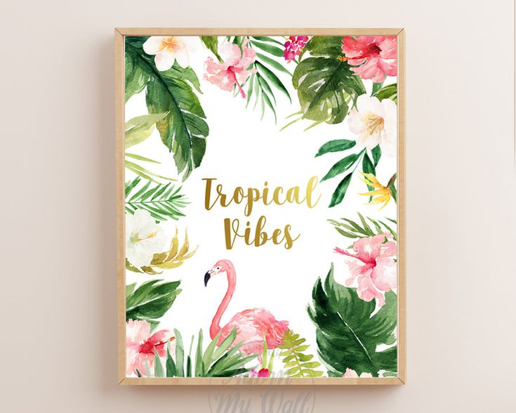 Tropical Vibes, Tropical Print, Tropical Leaf, Tropical Printable Art, Wall Art, Good Vibes Only, Tropical Vibes Only, Tropical Poster by AdornMyWall on Etsy