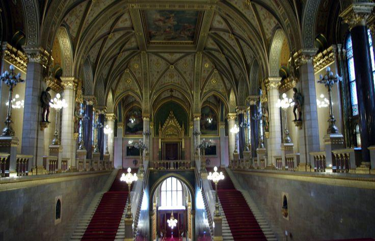 Fotos de: Hungria - Budapest - Parlamento vista interior