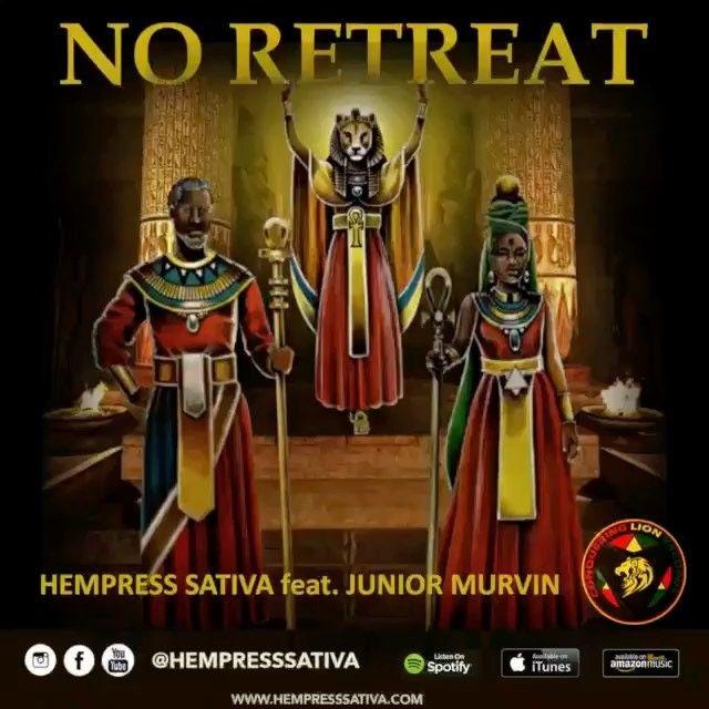 "HEMPRESS SATIVA - JUNIOR MURVIN - MUZIKAL VIBRATION - @hempresssativa - muzik instagram ""NO RITREAT"""