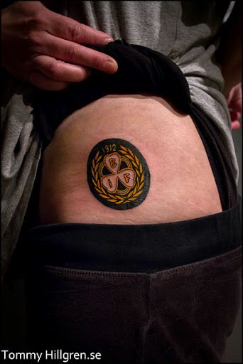 Tatuering, höft - Brynäs IF, BIF logo