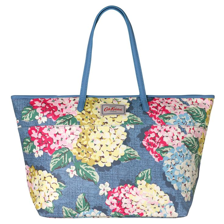 Hydrangea Large Trimmed Tote   Cath Kidston  