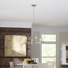 Shop allen + roth 6-Light Brushed Nickel Chandelier at Lowes.com This is my favorite for over your dining table.