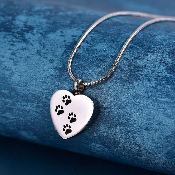 COCO Park Engraving Dog Paw Pet Keepsake Jewelry Cremation