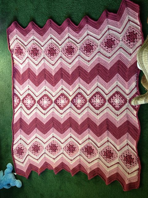 Ravelry: Project Gallery for Granny's Ripple pattern by Diana May