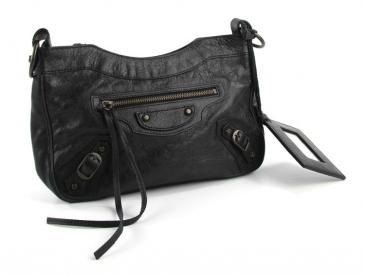Balenciaga The Classic Hip Bag In Black Lambskin Like New $550