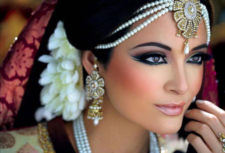 South asian bridal makeup.  Smokey eye. Photo by:Alexandre Pichon MU by:Ambreen