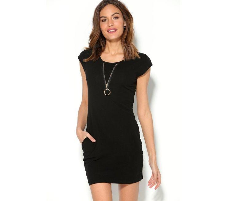 Krátke šaty so zlatým zipsom | modino.sk #ModinoSK #modino_sk #modino_style #style #fashion #summer #dress