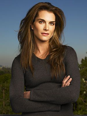 Brooke Shields' Hair...love this!