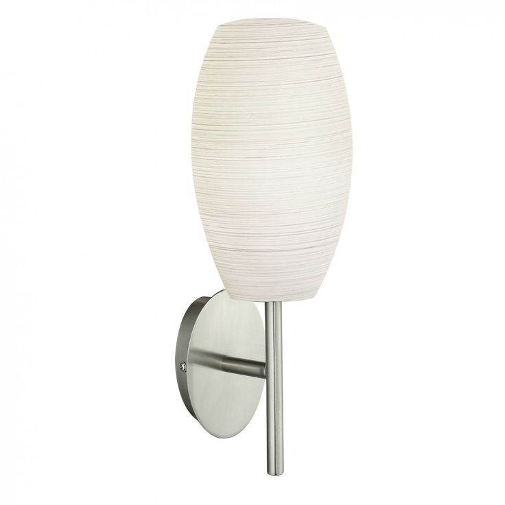 LED Wall Lamp White Wiped Glass E27 7W in 35cm Batista Eglo Lighting | GoLights.com.au