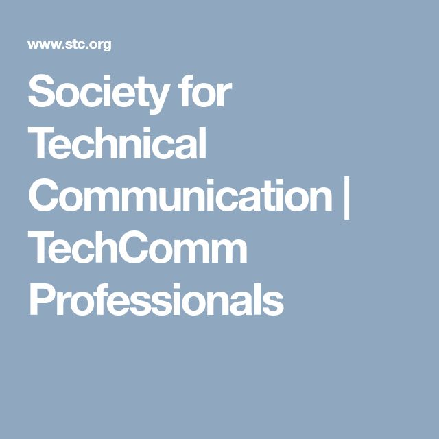 Society for Technical Communication | TechComm Professionals