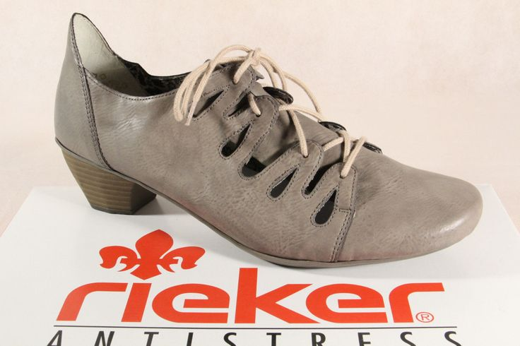 Rieker Ladies Lace-Up Shoes, Slippers, Casual Shoes, Court Shoes Grey