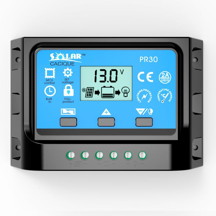 10A 20A 30A 12V 24V LCD PWM Solar Charge controller cell Battery voltage charger regulator with two USB 5V Charger Backlight