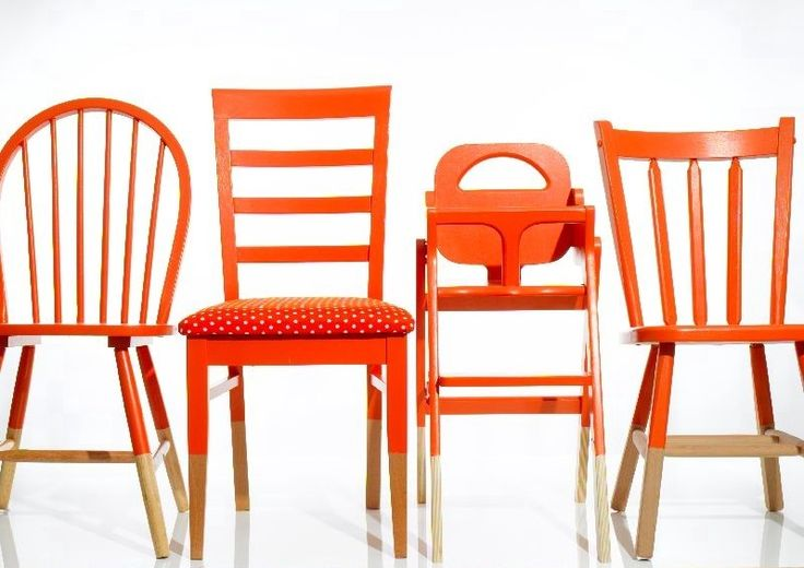 I've been thinking of painting our table and mismatched chairs just this shade. glad to see that it's NOT too overwhelming in bright orange. now I think I really will do it!