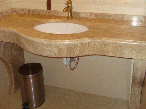 Столешница из мрамора Imperador Light | Столешницы из мрамора для ванных комнат | Столешницы для ванной из натурального камня | Столешницы для ванных комнат | Столешницы из натурального и искусственного камня | Изделия из камня | Архитектура камня