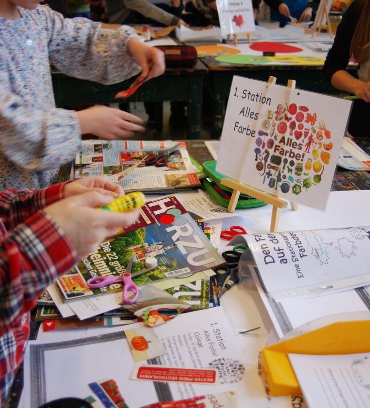Kunstunterricht in der Grundschule, Stationsarbeiten zu Wassily Kandinsky, Paul Klee, Max Ernst und Leonardo da Vinci - 136s Webseite!