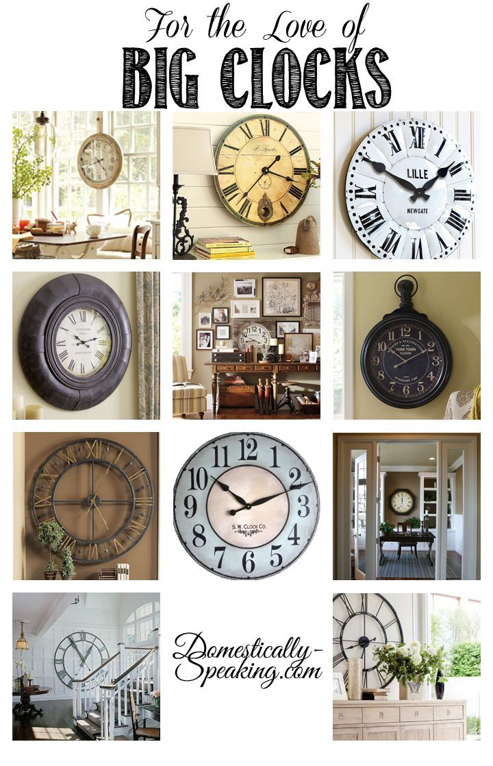 25 best ideas about big clocks on pinterest stair wall decor oversized clocks and entryway paint. Black Bedroom Furniture Sets. Home Design Ideas