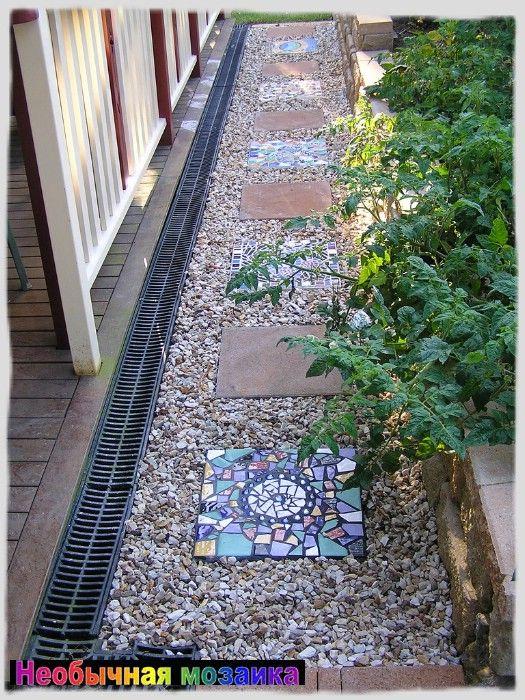 Мозаика для сада, садовая мозаика, мозаика в саду, мозаика на даче, украшение дачного участка, украсить мозаикой, как сделать мозаику, мозаика скамейка, дача, сад, приусадебный участок, своими руками, делать мозаику, инструменты для мозаики,