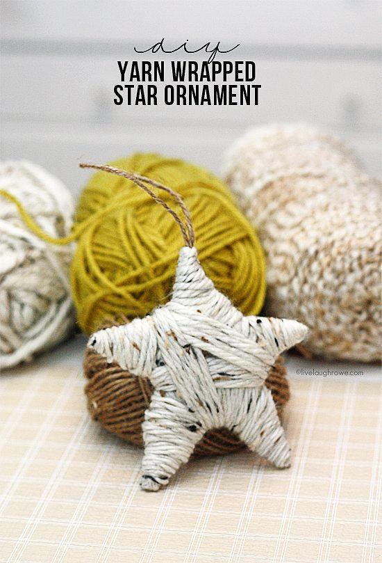 Cardboard Yarn Ornaments