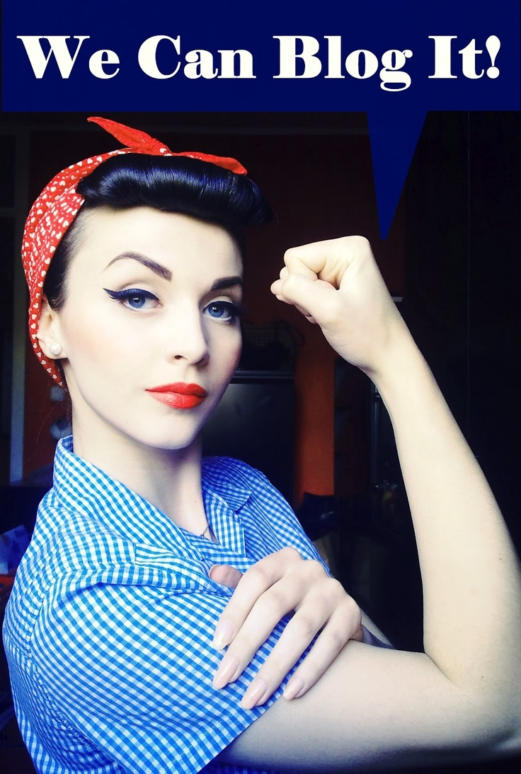 Rosie the Riveter hairstyle: We Can Blog It!